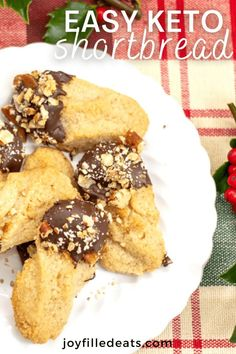 These flavorful keto shortbread cookies are perfectly buttery and delicious. These cookies will leave a lasting impression on the entire family. Plus, they are easy to make and so much healthier than anything you can buy at the store. This easy low carb shortbread recipe is also gluten-free, grain-free, egg-free, sugar-free, and Trim Healthy Mama friendly.