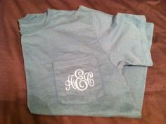 Monogram Pocket Tees