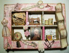 Utes kreative Seite: Collage Nähstudio rosa/braun