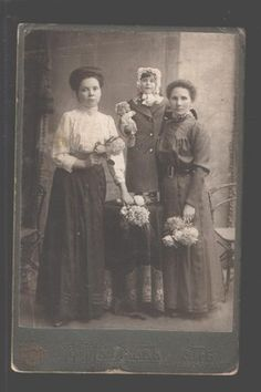 097005 Victorian Ladies Girl w Doll Old Cabinet Photo Russia | eBay
