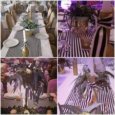 Stripes wedding decoration