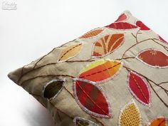 pillows by #dushky | #pillow #home #decor #tree #leaves #nature #autumn #fall #color #handmade #crafts