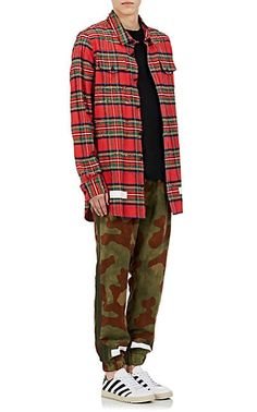 14c067458259 Off-White c o Virgil Abloh Camouflage Cotton Ripstop Track Pants - Joggers -