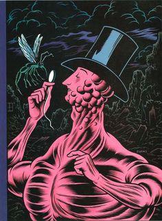 Charles Burns draws Eustace Tilley