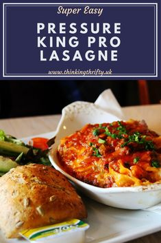 Make super tasty, homemade lasagne in minutes using the Pressure King Pro! King Pro Pressure Cooker Recipes, Pressure King Pro, Pressure Cooker Roast, Instant Pot Pressure Cooker, Slow Cooker, Cooking For A Crowd, Cooking On A Budget, Budget Meals, Budget Recipes