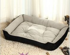 Big Size Large Dog Bed Kennel Mat Soft Fleece Pet Dog Warm Bed House Plush Cozy Nest Mat