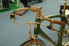 Hungarian company Veloboo tried to steal the show with this 24 carat gold plated bamboo bike… and everybody else thought about stealing it.