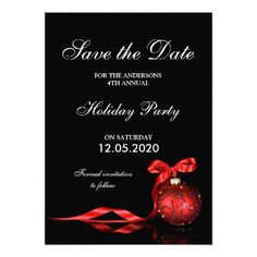 Christmas & Holiday Party Save The Date Templates. Matching invitations and RSVP cards are available here: http://www.christmas-party-invitations.com