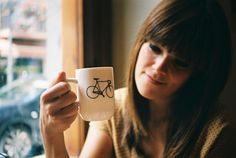 girl with coffee cups tumblr - Google Search