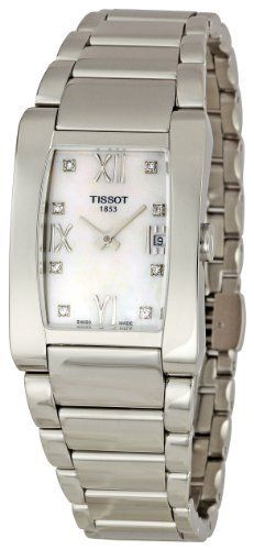 Tissot Women's T0073091111600 T-Trend Stainless Steel Bracelet Watch Tissot. $438.00. •Quartz movement•Antireflective sapphire crystal•Case diameter: 25 mm•Stainless-steel case•Water-resistant to 99 feet (30 M)