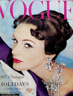 "January 1957  The cover model's ""invisible accessory"" is credited within the issue as ""Danu's Tabu perfume"