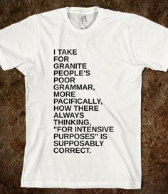 PEOPLE'S GRAMMAR - glamfoxx.com - Skreened T-shirts, Organic Shirts, Hoodies, Kids Tees, Baby One-Pieces and Tote Bags