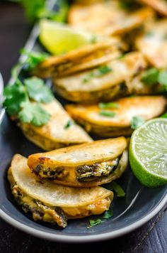 Mini Party Poblano Quesadillas - Host The Toast Mini Part. Mini Party Poblano Quesadillas – Host The Toast Mini Party Poblano Quesadi Mini Appetizers, Make Ahead Appetizers, Mexican Appetizers, Vegetarian Appetizers, Finger Food Appetizers, Mexican Food Recipes, Appetizer Recipes, Healthy Recipes, Vegetarian Finger Food