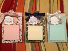 Stampin up post it note holders with acrylic frames.
