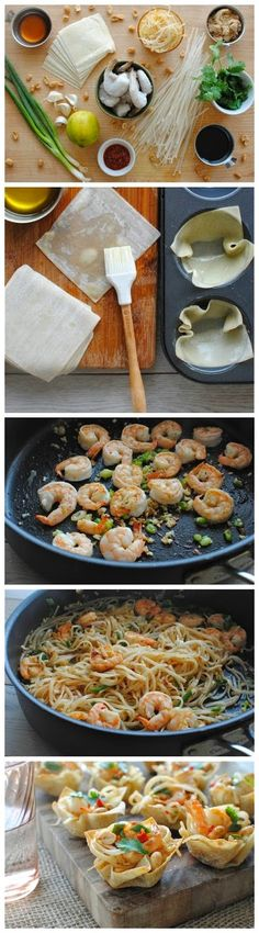 Entertaining Ideas: Shrimp Pad Thai Cups