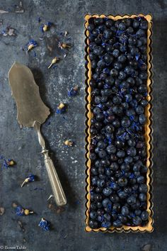 Almond tart with blueberries....