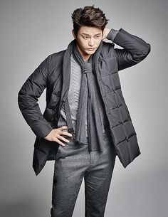 VOSTRO F/W 2015 Ad Campaign Feat. Seo In Guk | Couch Kimchi The scarf is overkill. But love the range of greys.