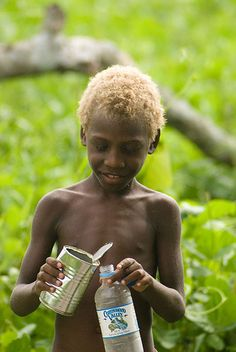 Scientifc explanation of the beautiful combination of brown skin  and blond hair in Melanesia.