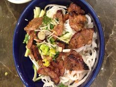 Vietnamese grilled pork vermicelli - light healthy meal