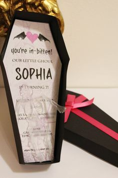 Coffin Invitation by SophiesticatedEvents on Etsy