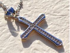 Hey, I found this really awesome Etsy listing at https://www.etsy.com/listing/286244787/platinum-925-cross-charm-necklace