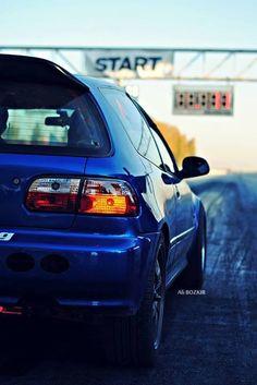 honda civic eg k20 project car , drag race pist photo