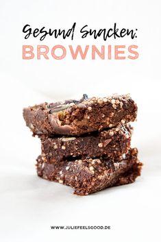 Gesunde Snacks: Clean Eating Brownies. Schnell und einfach zubereitet.