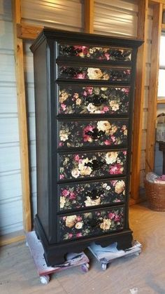 AVAILABLE Painted Vintage Lingerie Chest by CottonwoodRanch - achat lingerie, lingerie online shop, under where intimates inc *ad