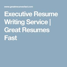 best executive resume writing service