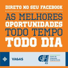 CIEE-RS Curta vagas de estágio pelo Facebook http://dld.bz/djHtA #cieers #ficaadica #vagas #facebook #estágios #app #aplicativo