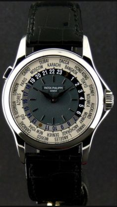 Watches of Distinction: Patek Philippe Geneve. Awesome timepiece.