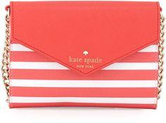 Kate Spade New York Fairmount Square Monday Crossbody Bag, Geranium/Cream