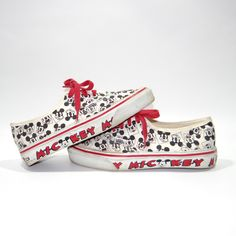 Vintage Rare 1991 MICKEY MOUSE VANS Sneakers Shoes Women's 8 Skidgrip Skate Disney by NicFitVintage on Etsy https://www.etsy.com/listing/197453260/vintage-rare-1991-mickey-mouse-vans