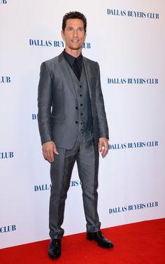 Matthew McConaughey at the Dallas Buyers Club UK Premiere in Dolce & Gabbana.