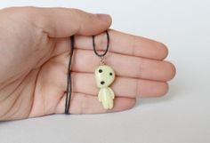 Kodoma/Forest Spirit Polymer Clay Necklace from by ArtzieRush, $11.00