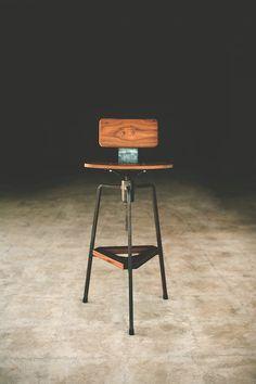 Tre stool bar stool desk stool modern by petrifieddesign on Etsy, $325.00