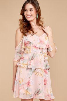 5 Until Sunset Pink Floral Print Dress at reddressboutique.com