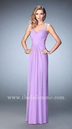 Cheap La Femme 22747 Two Piece Sapphire Blue Formal Mermaid Gown ...