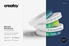 Silicone Wristband Mockup Set by Creatsy on @creativemarket