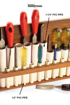 110 Extraordinary Uses for Ordinary Household Items Household Organization, Organizing Tips, Organizing Your Home, Storage Organization, Storage Ideas, Garage Tool Storage, Cord Storage, Garage Tools, Paper Towel Rolls
