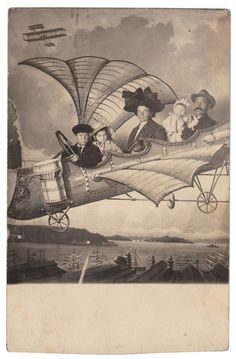 Steampunk flights of fancy  Anon., USA, 1900s  Real photo postcard, 5½ x 3½ in. (13.5 x 8.5cm)  © Fine Vernacular Photography