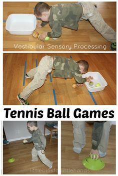 Easy Tennis Ball Activities For Vestibular Sensory Play