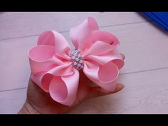 Hair Bows Pearl Shoes Ribbons Embellishments Fabrics Ribbon Bows Pink Jumpsuit Things To Make Arches Ribbon Hair Bows, Diy Hair Bows, Diy Bow, Diy Ribbon, Fabric Ribbon, Ribbon Bow Tutorial, Holiday Hair Bows, Baby Girl Hair Accessories, Toddler Hair Bows