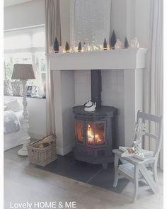 Heerlijk zo'n houtkachel ♡ love it by Tamara Jonker Cozy House, Mantle, Furniture Decor, Living Room, Instagram Posts, Inspiration, Home Decor, Ideas, Kitchen