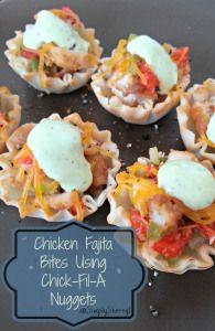 Chicken Fajita Bites Using Chick-fil-A Nuggets