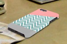 chevron mint 3D iPhone Cases for iPhone 4iPhone by TREEDECASE, $16.00