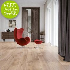 Norske Oak Parana 1-Strip 180mm Matt Lacquered Cream Stained, Brushed Bevelled