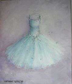This ever so pretty lavender and aqua tutu painting is a custom order painted by 4Wits-End. (perhaps you would like to order one too?)