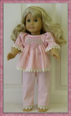 Emily+Nightgown+and+Pyjamas+PDF+pattern+for+18+Doll+by+Genniewren,+$5.00
