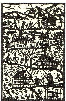 Pays d' Enhaut Scherenschnitt ( papercut ) Paper Cutting, Cut Paper, Kirigami, Paper Art, Paper Crafts, Rustic Pictures, Scandinavian Folk Art, Quilling Patterns, Silhouette Art